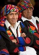 Guatemala, Chichicastenango, Cofriada men