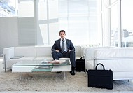 Portrait of a businessman in a waiting room Business concept
