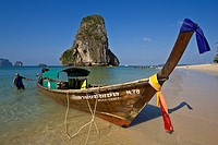 Long Tail Boat, Phranang Cave Beach, Krabi, Thailand