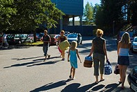 People coming and going to the Yyteri beach western Finland Europe