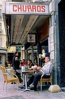 Málaga Andalusia  Spain:Cafe Central  In Plaza Constitución