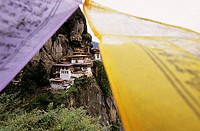 The Taktshang, also called Tiger Nest, is the most impressive monastery of the country, Paro, Bhutan