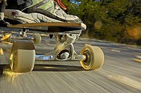 Skateboarding on the Rock Creek Parkway in the Rock Creek Canyon near the city of Twin Falls in southern Idaho USA