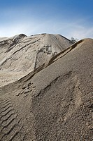 colorful construction sand mound quarry variety sands