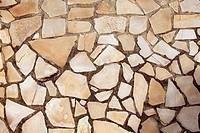 masonry rock stone tiles floor on the park background pattern texture