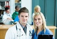 Medical in hospital reception