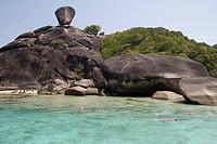 Ko Similan Granite Rocks, Ko Similan Island, Similan Marine National Park, Thailand