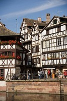 View over the Ill to the Place Benjamin Zix, La Petit France, View over the Ill to the Place Benjamin Zix, La Petit France Little France, Strasbourg, ...