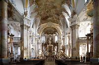 Altar in the pilgrimage church of the Fourteen Holy Saints, Wallfahrtskirche Vierzehnheiligen near Bad Staffelstein, Oberfranken, Bavaria, Germany, Eu...