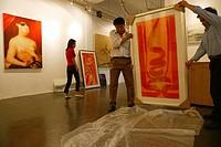 ShanghART art gallery, Moganshan, Gallery, art dealer, 50 Moganshan Road, paintings of painter Zhou Tiehei