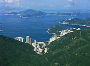 Aerial view overlooking Repulse Bay and the outlying islands, Hong Kong