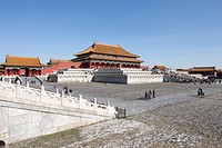 Hall of supreme harmony Taihe Dian, Forbidden City, Beijing, China