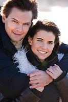 Couple winter portrait