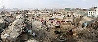 Displaced people camp in kabul