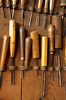 Antique woodworkers chisels
