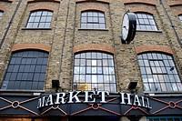 England, London, Camden Town, The exterior of Market Hall at Camden Lock Market.