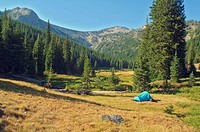 eaglecap wilderness, oregon, united states of america, backcountry camping in brownie basin