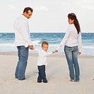 fort lauderdale, florida, united states of america, a family on the beach