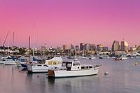San Diego skyline at twilight, California, USA