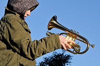 boy with a trumpet