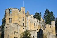Ruin of the castle Château de Beaufort, Luxembourg