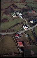 Aerial view of buildings, Castletown Bearhaven, County Cork, Ireland