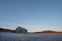 Farmhouse in a field, Leelanau Peninsula, Michigan, USA