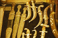 Knives and swords in a shop at the Kapali Çarsi, Grand Bazaar, Istanbul, Turkey