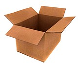 cardboard box in high detail _ isolated over a white background