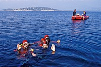 DEEP_SEA DIVERS IN THE MEDITERRANEAN, BOUCHES_DU_RHONE 13, FRANCE