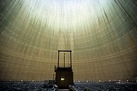 INTERIOR OF A COOLING TOWER OF THE EDF NUCLEAR POWER PLANT IN GOLFECH 82, FRANCE