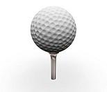 3D render of golf ball on tee