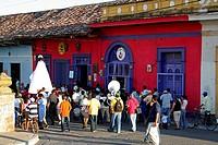 Catholic street procession on Ometepe Island, Nicaragua.