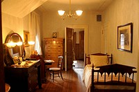 Bedroom, Mark Twain House, Interior, Hartford, Connecticut, USA