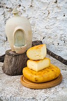 Mahon cheese. Minorca. Balearic Islands. Spain.