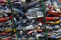 A Bundle of Plasticbottles
