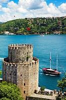 Rumeli Fortress..European Fort and Fatih Bridge. Bosphorus Strait. Istanbul. Turkey.