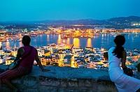 Ibiza City. Ibiza. Balearic Islands. Spain.