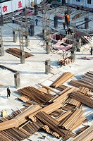 Iron Rods in the Construction Site