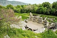 Ancient theatre. 3rd century BC. UNESCO. World Heritage Site. Butrint. Albania.