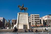 Ulus Meydani with Atatürk equestrian statue Ankara central Anatolia Turkey Asia