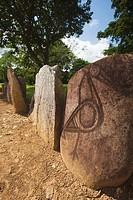 Puerto Rico, North Coast, Karst Country, Utuado, Parque Ceremonial Indigena de Caguana, monoliths at ancient Taino people´s ceremonial site.