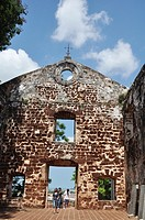 Malacca (Malaysia): the St. Paul´s Church ruins