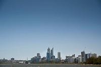 Perth, Australia, Swan River Flowing Through The City