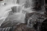 Water falling into a river, Ozark Mountains, Devil´s Den State Park, Arkansas, USA