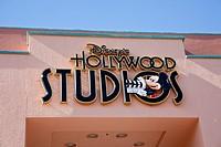 Orlando, FL - Feb 2009 - Disney´s Hollywood Studios sign above walkway at Hollywood Studios theme park in Kissimmee Orlando Florida