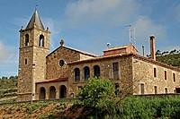 Santa Maria parish, Romanesque, La Molsosa, Solsones, Catalonia, Spain.