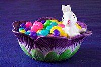 Jelly beans in bowl Easter