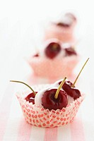 Ciliegie glassate Cherries with cinnamon sugar glaze, Italy