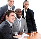 Confident multi_ethnic business people in a meeting Business concept
